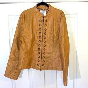 Faux Leather 2X Ladies Jacket